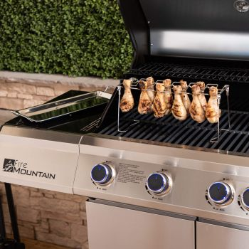 Fire Mountain Stainless Steel Drumstick Rack